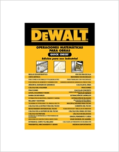 cover image - DEWALT® Operaciones Matemàticas Para Obras Quick Check
