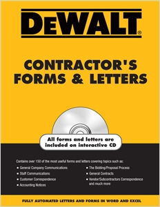cover image - DEWALT® Contractor's Forms & Letters