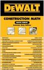 cover image - DEWALT® Construction Math Quick Check, Extreme Duty Edition