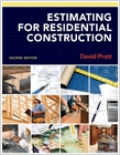 cover image - Estimating for Residential Construction