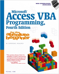 cover image - Microsoft® Access VBA Programming for the Absolute Beginner