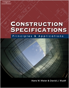 cover image - Construction Specifications, Principles and Applications