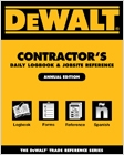 cover image - DEWALT® Contractor's Daily Logbook & Jobsite Reference