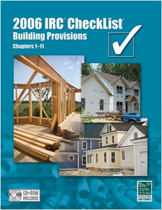 cover image - 2006 IRC Checklist - Building Provisions, Chapters 1-11