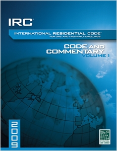 cover image - 2009 International Residential Code Commentery, Volume 1