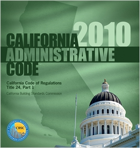 cover image - 2010 California Administrative Code, Title 24 Part 1