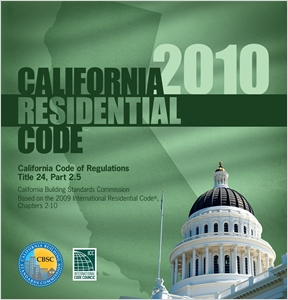 cover image - 2010 California Residential Code, Title 24 Part 2.5