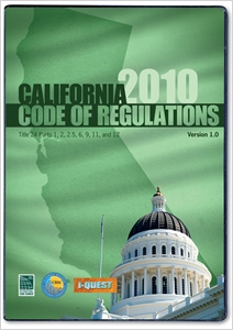 cover image - 2010 California Codes, Title 24 CD-ROM Single User