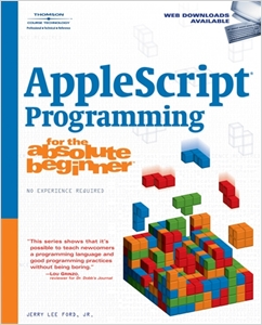 cover image - AppleScript Programming for the Absolute Beginner