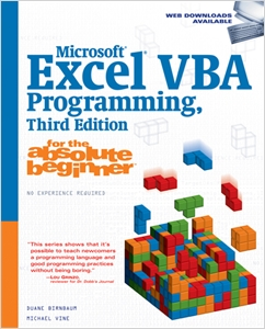 cover image - Microsoft® Excel® VBA Programming for the Absolute Beginner