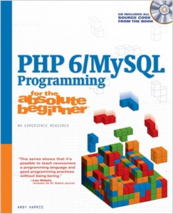 cover image - PHP 6/MySQL Programming for the Absolute Beginner