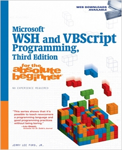cover image - Microsoft WSH and VBScript Programming for the Absolute Beginner