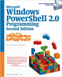 cover image - Microsoft® Windows PowerShell 2.0 Programming for the Absolute Beginner