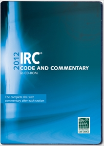 cover image - 2012 International Residential Code Commentary Combo (Vol. 1 & 2) CD-ROM