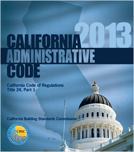 cover image - 2013 California Administrative Code, Title 24 Part 1