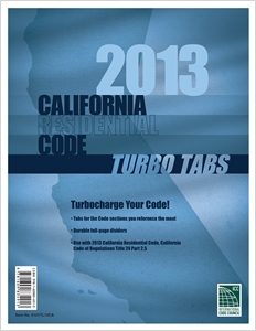 cover image - Turbo Tabs: 2013 CA Residential Code Title 24 Part 2.5