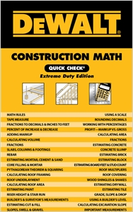 cover image - DEWALT® Construction Math Quick Check, Extreme Duty Edition