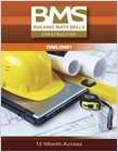 cover image - Building Math Skills Online Printed Access Card for Construction