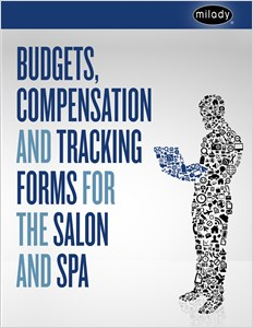 buy budgets compensation and tracking forms for the salon and spa