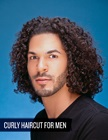 cover image - Curly Haircut for Men (Video and Step-by-Step PDF)