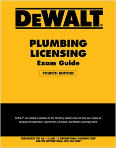 cover image - DEWALT® Plumbing Licensing Exam Guide, Based on the 2015 IPC