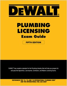 cover image - DEWALT® Plumbing Licensing Exam Guide, Based on the 2018 IPC