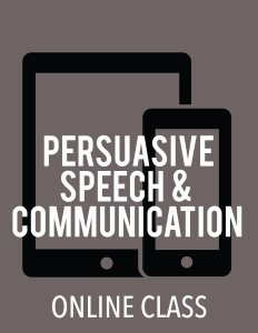 cover image - Persuasive Speech and Communication (Online Class)