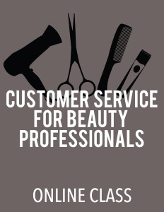 cover image - Customer Service for Beauty Professionals (Online Class)