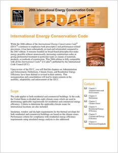 cover image - 2006 International Energy Conservation Code Update