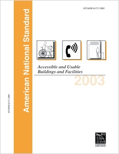 cover image - 2003 ICC/ANSI Guidelines, For Accessible & Useable Buildings & Facilities