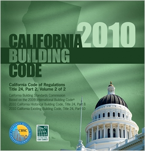 cover image - 2010 California Building Code, Title 24 Part 2 (volume contains Parts 8 & 10)