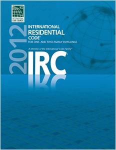 cover image - 2012 International Residential Code for One- and Two- Family Dwellings