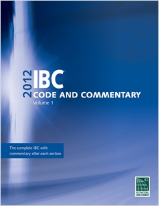 cover image - 2012 International Building Code Commentary, Volume 1