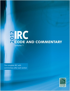 cover image - 2012 International Residential Code Commentary, Volume 1