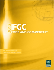 cover image - 2012 International Fuel Gas Code Commentary