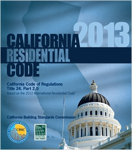 cover image - 2013 California Residential Code, Title 24 Part 2.5