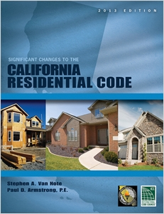 cover image - Significant Changes to the California Residential Code, 2013