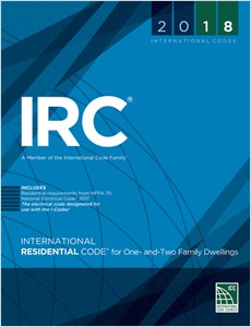 cover image - 2018 International Residential Code® for One and Two-Family Dwellings, Loose-leaf Version